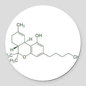 Tetrahydrocannabinol Round Car Magnet