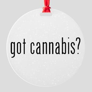 gotcannabis Round Ornament