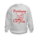 Brittany On Fire Kids Sweatshirt