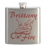 Brittany On Fire Flask