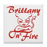 Brittany On Fire Tile Coaster