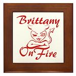 Brittany On Fire Framed Tile