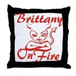 Brittany On Fire Throw Pillow