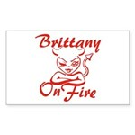 Brittany On Fire Sticker (Rectangle)