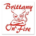 Brittany On Fire Square Car Magnet 3