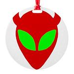 evilalien Round Ornament