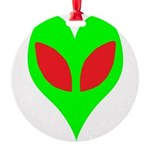 alienloveheart Round Ornament
