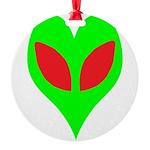 alienloveheart Round Ornament