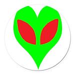 alienloveheart Round Car Magnet