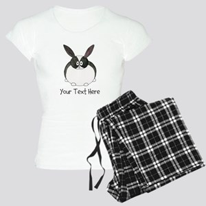 Dutch Rabbit. Custom Text. Women's Light Pajamas