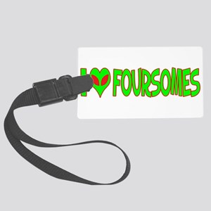 ialienlovefoursomes Large Luggage Tag