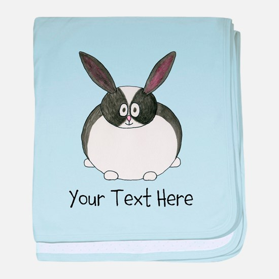 Dutch Rabbit. Custom Text. baby blanket
