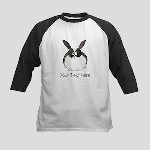 Dutch Rabbit. Custom Text. Kids Baseball Jersey