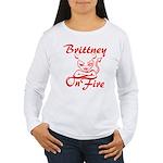 Brittney On Fire Women's Long Sleeve T-Shirt