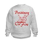 Brittney On Fire Kids Sweatshirt