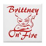 Brittney On Fire Tile Coaster