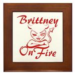 Brittney On Fire Framed Tile