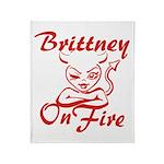 Brittney On Fire Throw Blanket