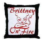 Brittney On Fire Throw Pillow