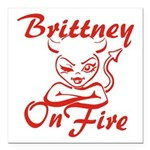 Brittney On Fire Square Car Magnet 3