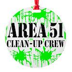 area51cleanupcrewblk Round Ornament