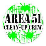 area51cleanupcrewblk Round Car Magnet