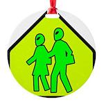 alienxingblk Round Ornament