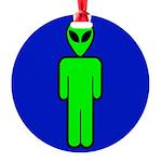 alienmensroomblk Round Ornament