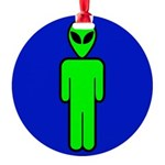 alienmensroomblk Round Ornament