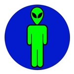 alienmensroomblk Round Car Magnet