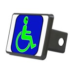 alienhandicappedblk Rectangular Hitch Cover
