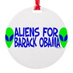 aliensforbarackobama Round Ornament