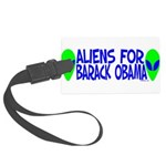aliensforbarackobama Large Luggage Tag
