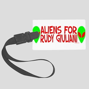 aliensforudygiuliani Large Luggage Tag