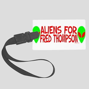 aliensforfredthompson Large Luggage Tag