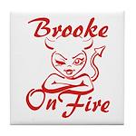 Brooke On Fire Tile Coaster