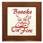 Brooke On Fire Framed Tile