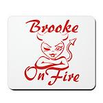 Brooke On Fire Mousepad