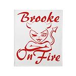 Brooke On Fire Throw Blanket