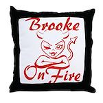 Brooke On Fire Throw Pillow