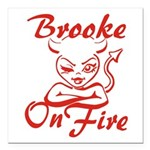 Brooke On Fire Square Car Magnet 3