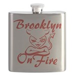 Brooklyn On Fire Flask