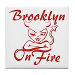 Brooklyn On Fire Tile Coaster