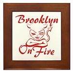 Brooklyn On Fire Framed Tile