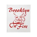 Brooklyn On Fire Throw Blanket