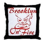 Brooklyn On Fire Throw Pillow
