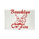 Brooklyn On Fire Rectangle Magnet