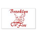 Brooklyn On Fire Sticker (Rectangle)