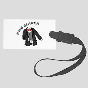 Tuxedo Ring Bearer Large Luggage Tag