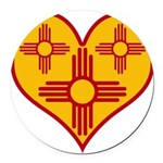 nmziaheart Round Car Magnet